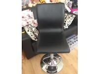 Black stool chairs X4