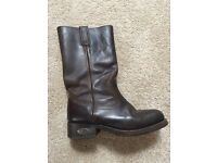 Loblan womens brown leather boots size 5