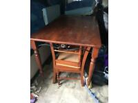 Natural wood Dining table with 6 chairs