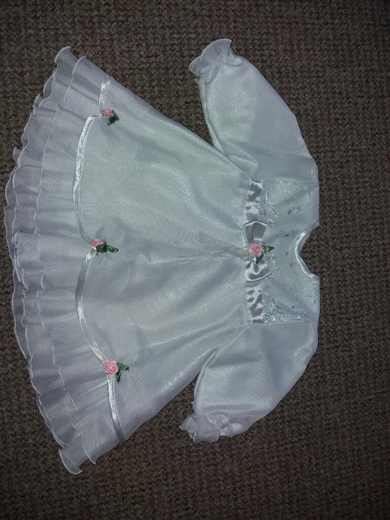 Baby girl christening/baptism dress 6-9 mths (7 piece set)