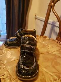 Genuine leather girls booties size 10
