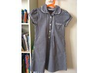 2 X Next Navy Gingham School Summer Dress