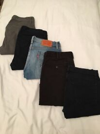 Various Size 30 Jeans and Chinos