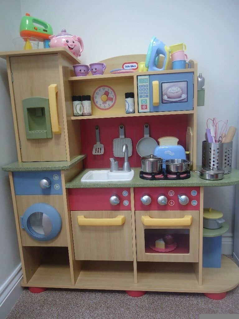 Little Tikes Cooking Creations Wooden Toy Kitchen And Accessories