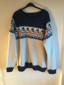 Cotton Festive Jumper - Size XXL