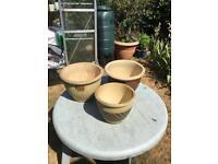 3 Ceramic Pots