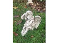Selection of stone garden Angel statues, lovely detail. New