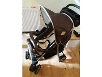 pram/pushchair set used for few months like new with car sit, baby bag, foot cover and the pram