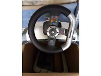 X box steering wheel and pedals