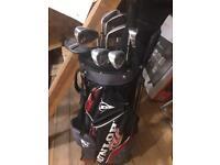 Dunlop golf club set & bag