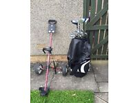 Full Set of Dunlop Golf Clubs, with bag, trolley & 2 extra clubs