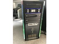 Old Gaming PC Intel E6600 CPU 3GB DDR2 800Mhz GTX 260 Graphics 80GB HDD DVD-RW Windows 7