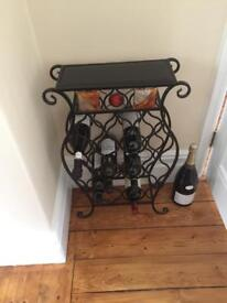 Designer wine rack and matching table £100 for both or £50 each