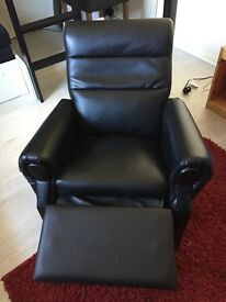 Kids black recliner chair