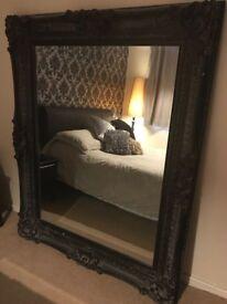Large Black cool unique Mirror *LOOK*