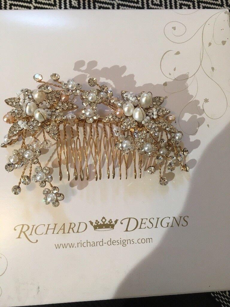 Decorative bridal hair comb by Richard Designs