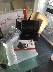 Akai DVD with built in freeview tv portable