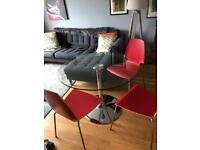 Lovely IKEA modern glass dining table and four chairs
