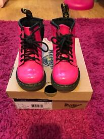 Toddler Dr Martin patent pink boots