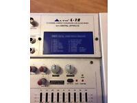 Alto Live Sound Mixer with Digital FX + Flight Case