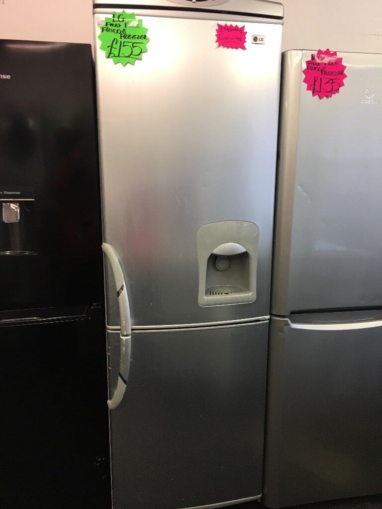 LG FROST FREE FRIDGE FREEZER WITH WATER DESPENSER IN SILIVER