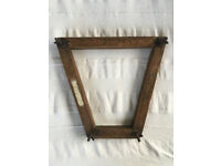Vintage/antique c 1920s F H Ayres Ltd London 'The Grip' trapezoid shaped wooden racket press.£5 ovno
