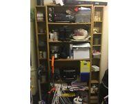 Ikea bookshelf and 2x CD/DVD shelves