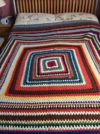 Original 1970s crocheted blanket
