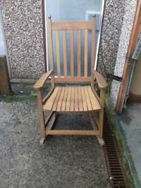 FuRocking chair solid wood