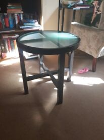 Small table. Bedside.