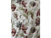 Laura Ashley Gosford Paprika Curtains. Lined