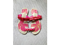 Womens size 5 pink flat sandals from Riviera