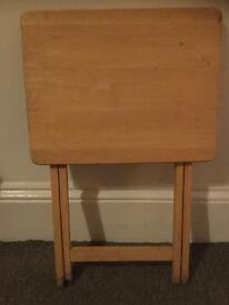 Fold away small wooden table