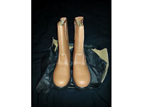 Mens Tan Rigger Safety Boot Size 10