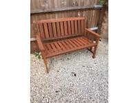Outdoor 2 seater wooden chair