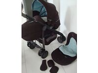 Silver cross Vogue 3D Buggy Stroller 2 in one umbrella folding immaculate condition £50