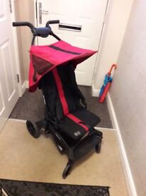 ABC Take Off Stroller- Red & Black with Rain Cover