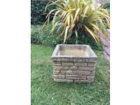 A vintage 1960's square sandford stone garden planter