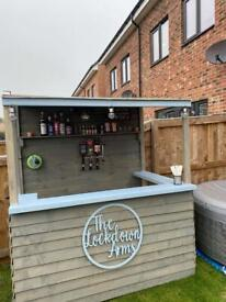 Garden Bar / summer house / decking / patio / man cave