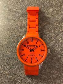Orange Superdry watch