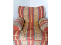 Three seater sofa and chair.