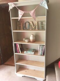 Lovely pale grey natural bookcase