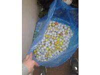 Bags of 100 golf balls £10