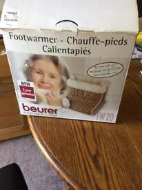 foot warmer used