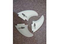 Lock Box Surfboard Fins Thruster Set