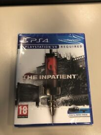 The Inpatient PSVR PS4 Game *Brand New*