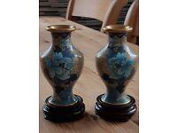 Antique cloisonne vases