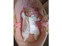 Redorn baby doll. New. Premature baby
