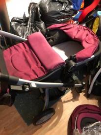 Grace 3 in 1 travel system in purple