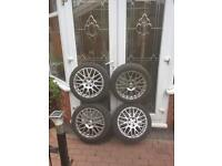 Seat Ibiza TSW 16 inch alloy wheels £100